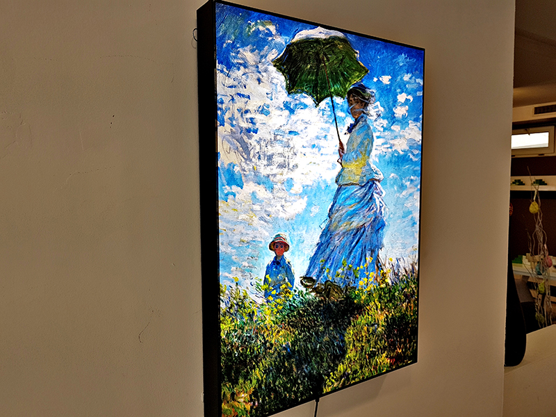 LED светеща картина Claude Monet, Woman With Parasol