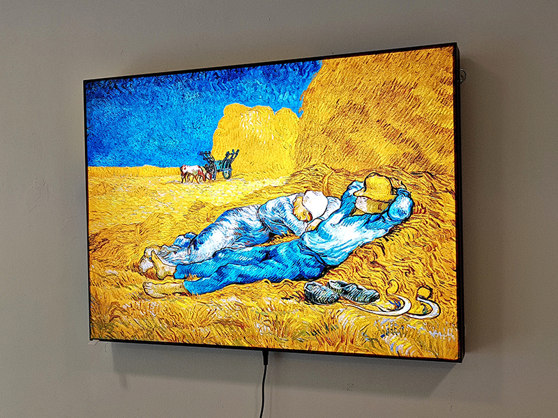 LED светеща картина Van Gogh, Rest From Work