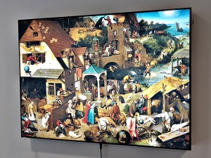 LED светеща картина Pieter Bruegel the elder, Dutch Proverbs