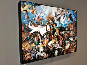 LED светеща картина Pieter Bruegel the elder, The Fall of the Rebel Angels