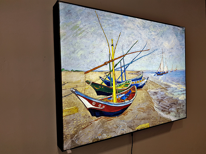 LED светеща картина Van Gogh, Fishing Boats On The Beach