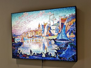 LED светеща картина Paul Signac, Port of Saint Tropez