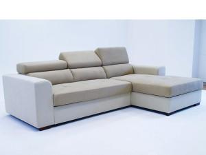 ъглов диван FELYNE PROMO с ракла и легло (bronx беж+камел) дясна посока