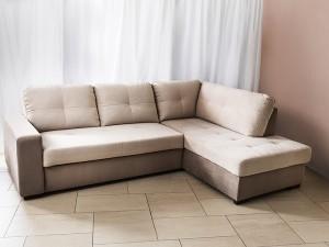 ъглов диван TAOS PROMO с легло и ракла (duomo sand+elephant) дясна посока