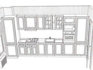 кухня модел BIANCA (композиция 1)