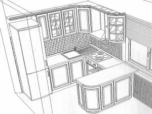 кухня модел BIANCA (композиция 2)