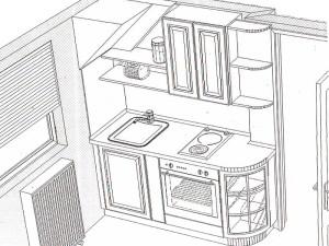 кухня модел BIANCA (композиция 8)