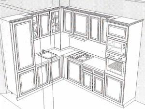 кухня модел BIANCA (композиция 9)