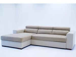 ъглов диван FELYNE PROMO с ракла и легло (bronx беж+камел) лява посока